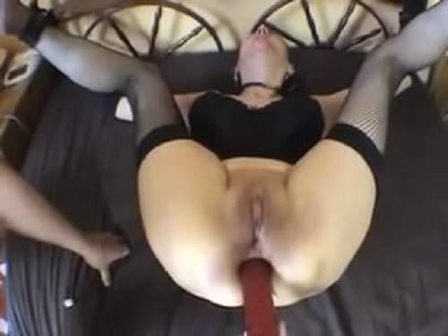 Anal – Bondage amateur mature double dildo fuck