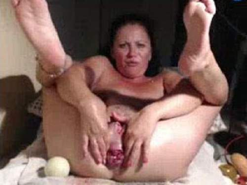 Dildo Anal – Billiard ball, huge apple, fisting, big rosebutt and other extreme