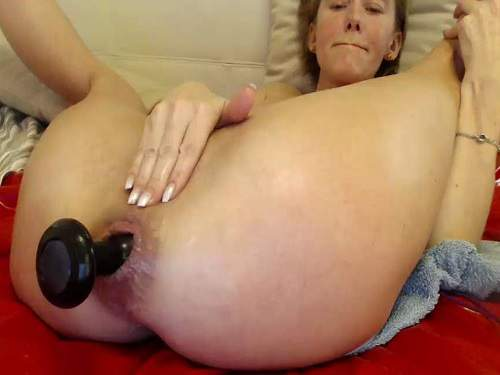 Webcam – Bbmix996 solo penetration double dildo – one in pussy and other in anal gape
