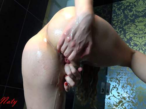 Gaping Anal – Cute and skinny german girl anal fisted and loose rosebutt