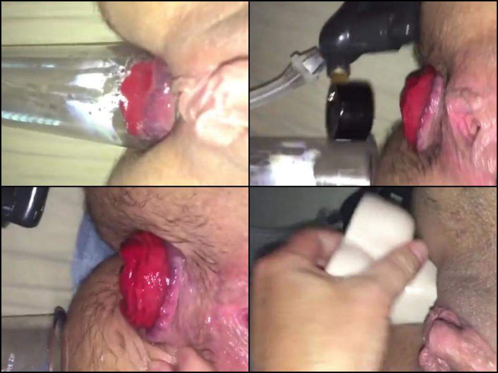 very close pumping anal,anal pumping homemade,huge prolapse asshole hairy