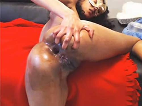 Anal Fisting – Hard webcam fisting pussy and anal gaping