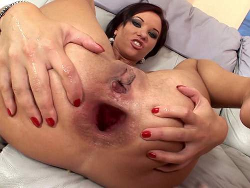 Alysagap – Extreme gangband and Alysa stretched monster gape
