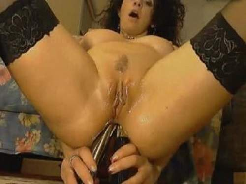 curly mature double dildo penetrated,crazy milf solo dildo inserted into her anal,double dildo penetrated crazy mature webcam,webcam milf with huge tits,curly milf porn