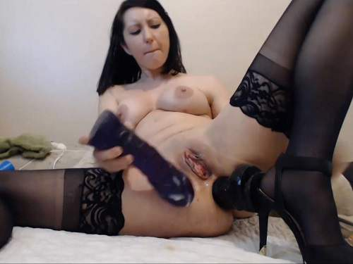 Long Dildo – Hardcore double penetration – inflatable dildo anal and pussy