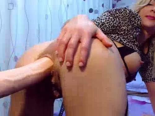 Pussy Insertion – Big dildo riding horny busty milf webcam porn