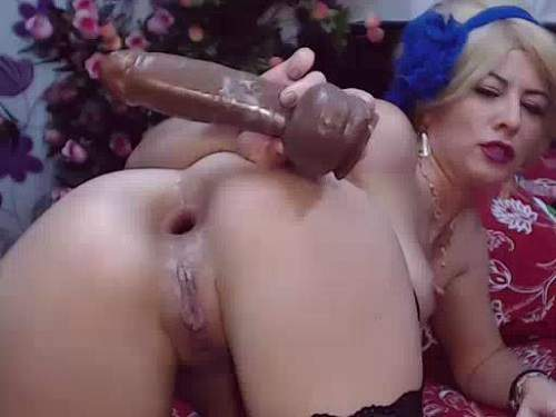Anal Fisting – Booty blonde anal gape ruined after brutal solo fisting