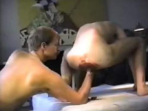 Vintage gay sex video