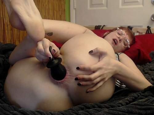 Closeup – New 19.04.2017 webcam girl inflatable dildo fuck in gape anal