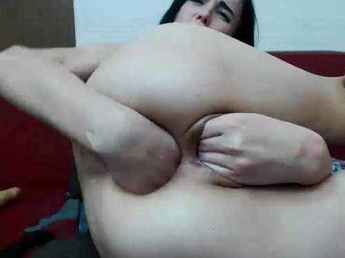 Webcam – New webcam pornstar solo double fisting sex – Release July 01, 2017