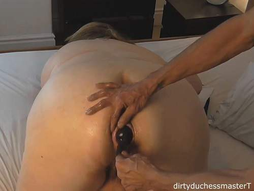 Bbw – Inflatable dildo penetration in asshole bbw wife homemade
