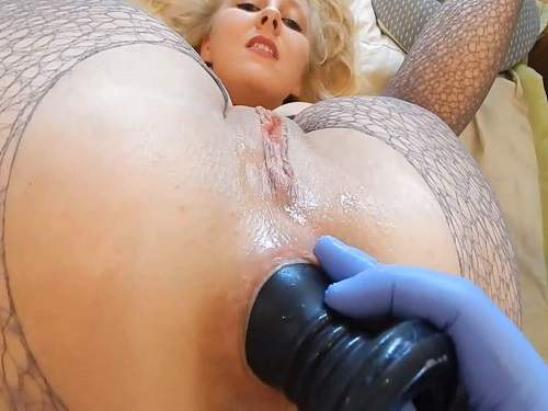 Huge Dildo – Big ass wife gets fisted and big dildos in rosebutt ass