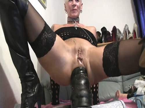 BBC Dildo – Lady-Isabell666 monster bbc dildo rides to rosebutt
