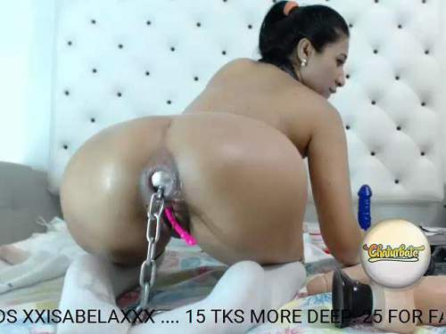 Webcam – Webcam big ass teen Isabela triple dildo penetration solo – Release January 23, 2018