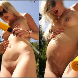 Pussy Piercing - Jennysimpson inflate stomach and became pregnant outdoor