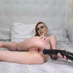 Huge Dildo - Kay Ottie anal creampie and facial with my XXXL dildo webcam