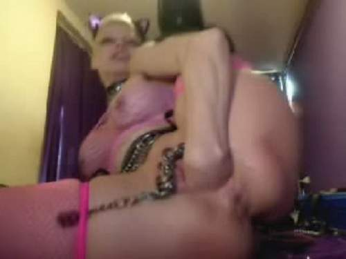 Pussy Piercing – Webcam rosebutt anal and clitoris pumping