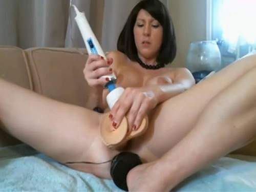Close Up – Fantastical webcam wife double colossal toy penetrated