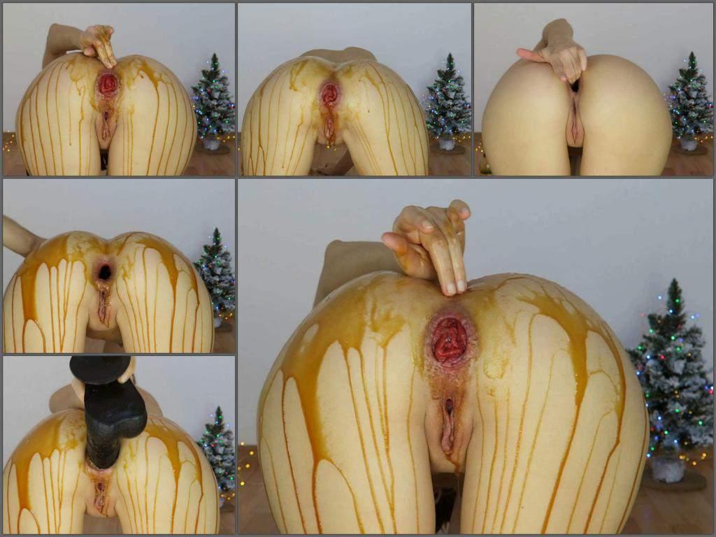 Mylene slow caramel farts, prolapse,Mylene anal prolapse,Mylene prolapse porn,Mylene dildo anal,Mylene anal gape,Mylene christmas video,christmas porn,huge dildo anal fuck