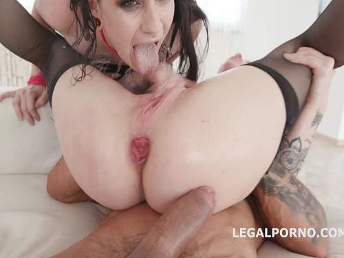 Anal Creampie – Monika Wild and Lydia Black giant butplug fully anal and rosebutt ruined part1