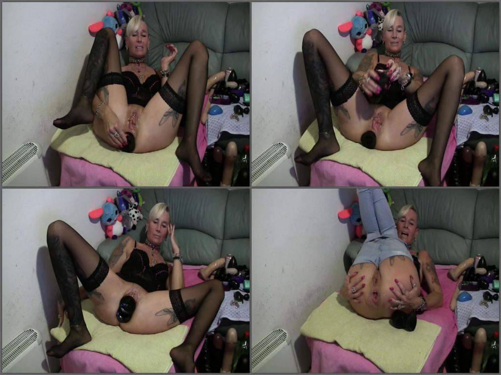 tattooed whore dildo anal,double dildo anal,deep dildo penetrated herself crazy wife,depraved mature dildo rides,big toy inserted herself horny slut,big toy anal gape stretching