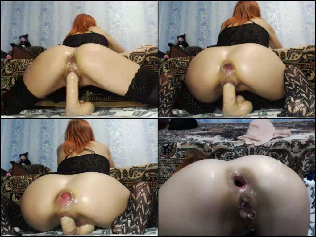 Fat Ass Riding Dildo Squirt