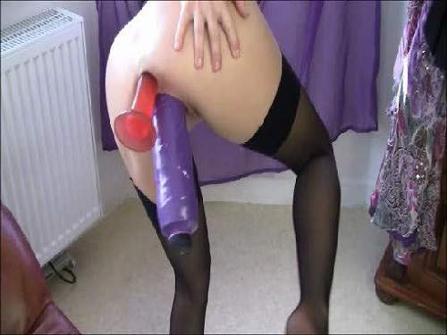 Double Dildo – Fantastical webcam horny milf double big toy insertion