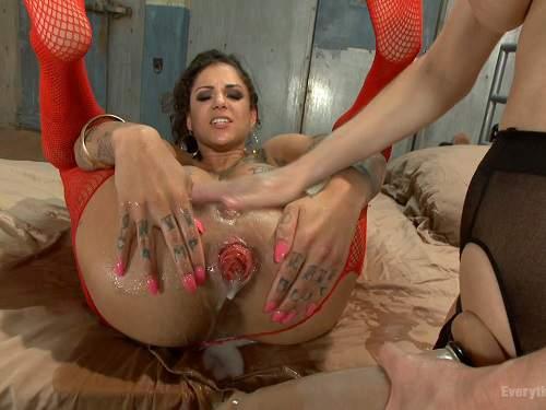 Latina Lesbian Anal Strapon