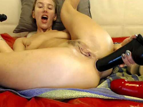 Close Up – Brutal dildos insertion in gaping anus to russian girl bbmix996