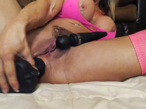Huge Dildo – Muscular milf musclemama4u big black dildo anal