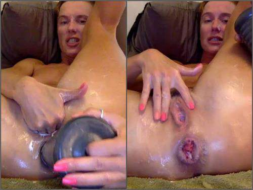 Anal Insertion – Bizarre russian milf bbmix996 rosebutt anal stretching after pyramide dildo fuck