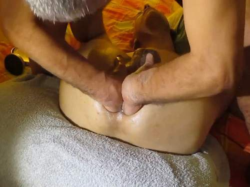 Double Penetration – Gays hardcore anal fisting and try double fisting