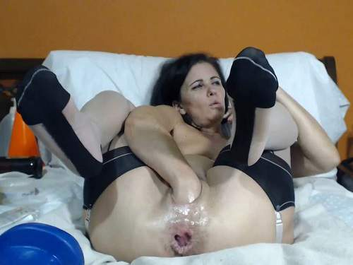 Pussy Fisting – Queenvivian giant dildo hard fuck after double fisting