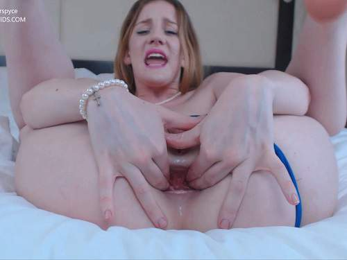 Closeup – Gingerspyce hotel succubus – double dildo porn to gape