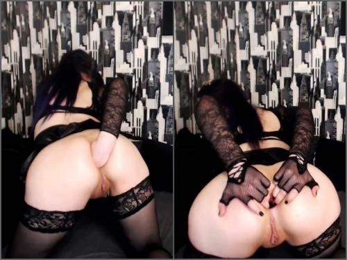 Stretching Gape – DollFaceMonica anal gape comparison bigger and bigger webcam show