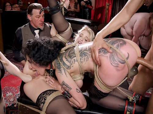 Bdsm – Aiden Starr, Chloe Cherry and Arabelle Raphael anal fisting public domination