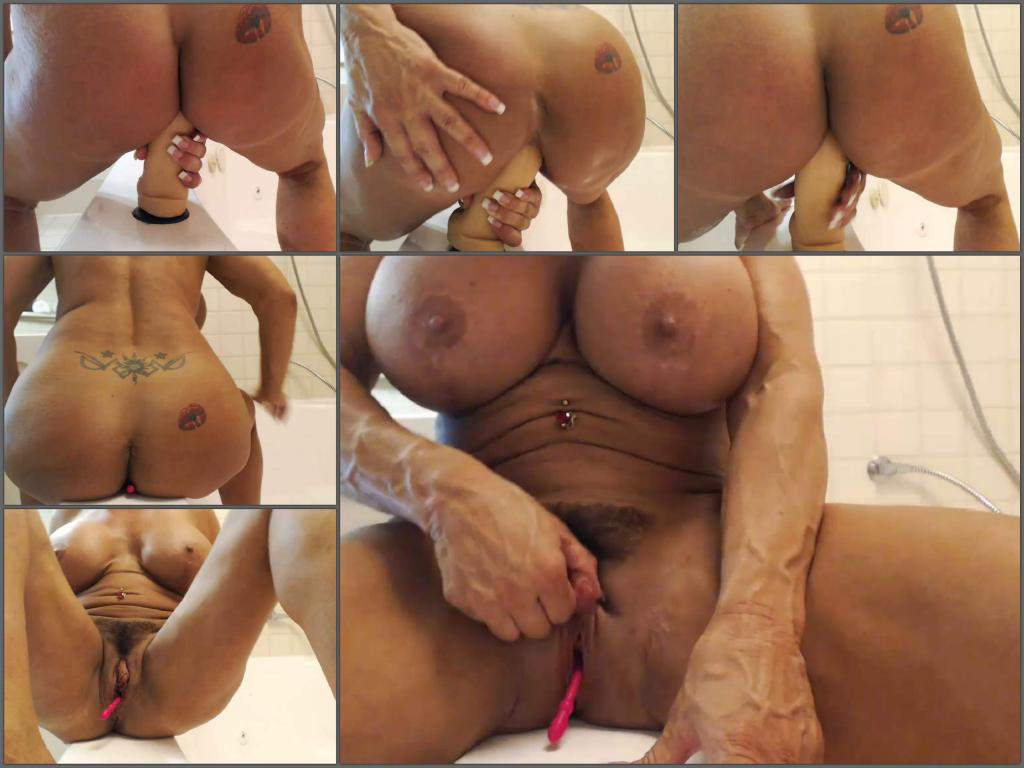 Big Ass Latina Dildo Shower