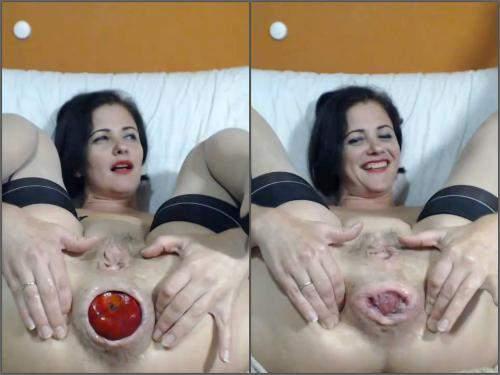 Rosebutt Loose – Queenvivian anal rosebutt loose after apple vaginal penetration fully