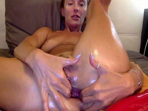 Dildo Anal – Russian hot MILF bbmix996 anal gape hardcore stretching after dildo insertion