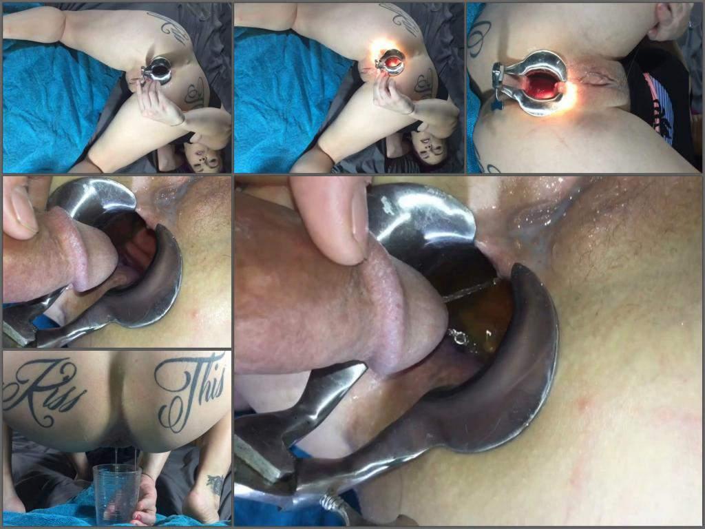 LilySkye speculum anal,LilySkye speculum examination,peeing domination,tattooed booty wife,wife gets peeing in ass,peeing in ass