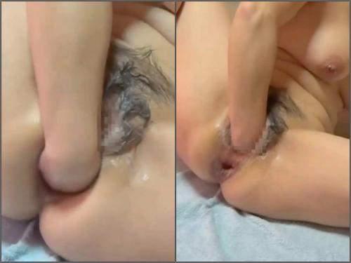 Jav Anal – Hairy japanese busty girl hardcore anal gape fisted homemade
