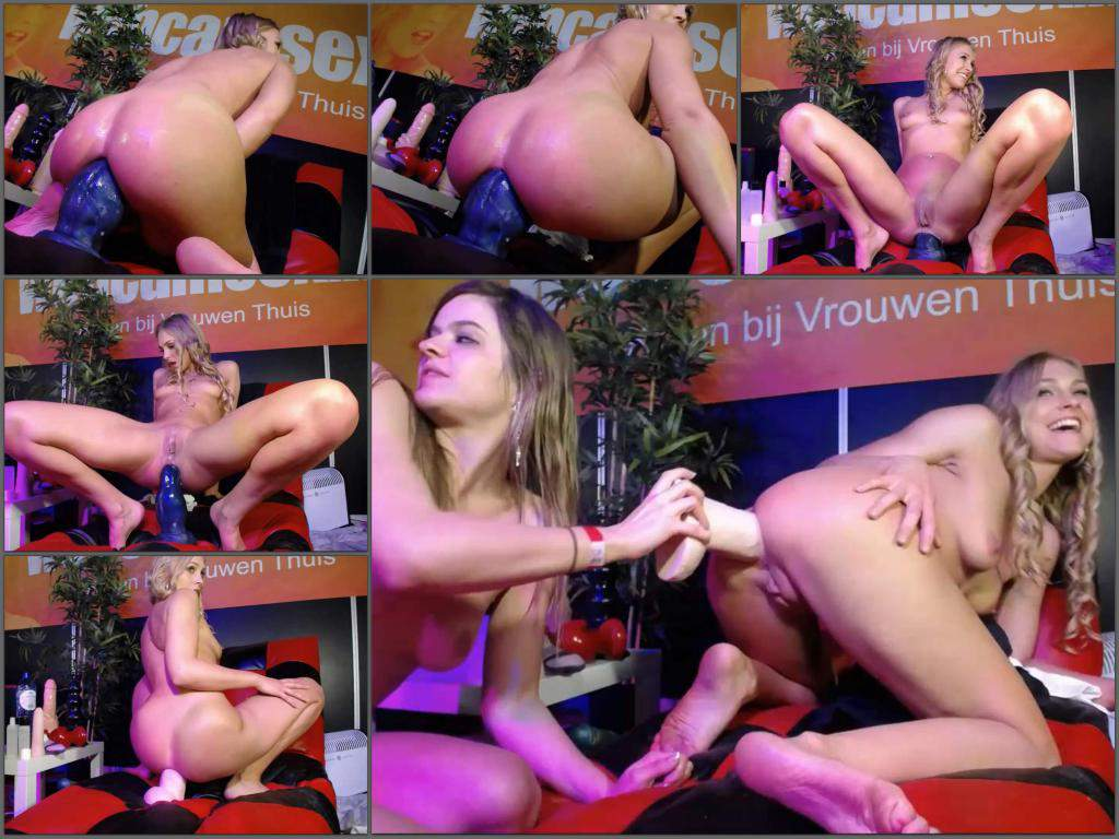 Busty Lesbian Anal Strapon