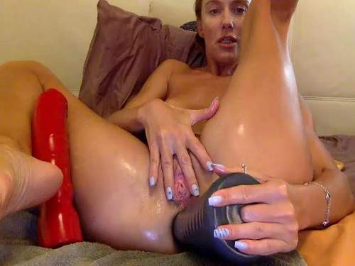 Anal – Pyramide dildo deeply fuck in gaping hole with russian bbmix996