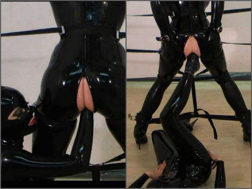 Fucking Machine – Rubber mistress anal fisting and footing domination to slave girl