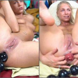 Anal Insertion - Webcam dirty blonde siswetlive giant anal prolapse loose herself