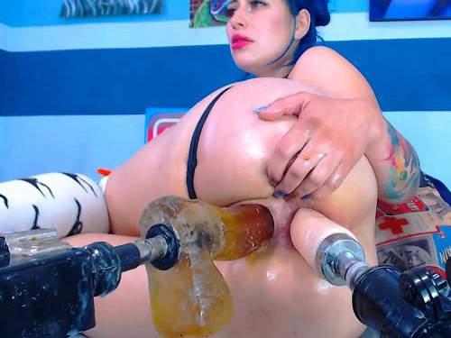 Close Up – Karlakole double fucking machine extreme penetration anal and vaginal