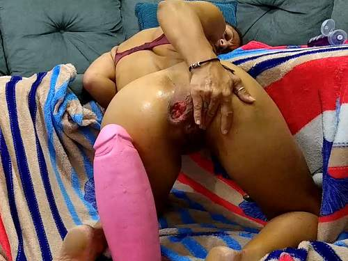 Dildo Porn – Amateur mature penetration really shocking pink rubber dildo in ass rosebutt