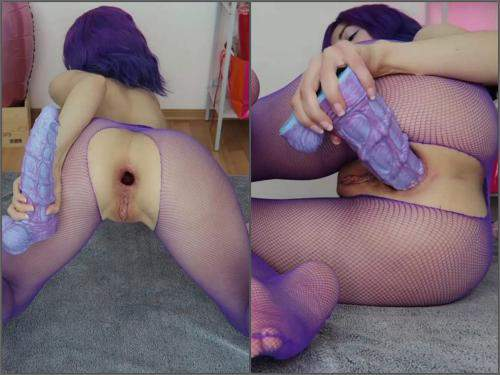 Gaping Anal – Mylene seahorse ass to mouth play @HankeysToys – Premium user Request