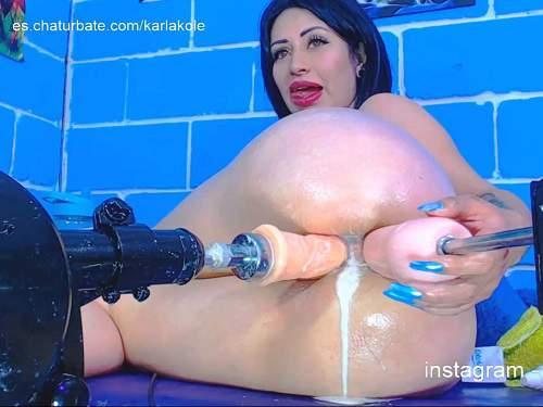 FullHD Porn – Webcam spanish big ass teen Karlakole double fucking machine porn