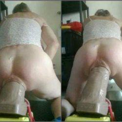 Dildo Anal - Big ass tranny self penetration epic hankey toys dildo anal